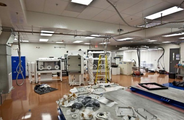 Outfitted majorana laboratory space full